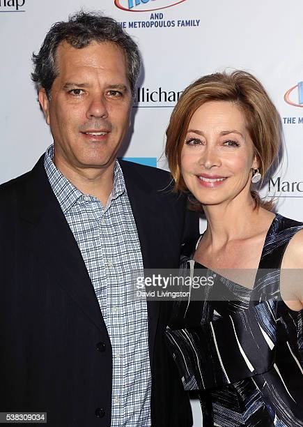 Actress Sharon Lawrence and husband Dr Tom Apostle attend the 2016 LA Greek Film Festival premiere of Worlds Apart at the Egyptian Theatre on June 5...