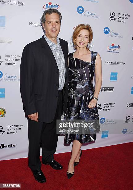 Actress Sharon Lawrence and husband Dr Tom Apostle attend the 2016 LA Greek Film Festival premiere of 'Worlds Apart' at the Egyptian Theatre on June...