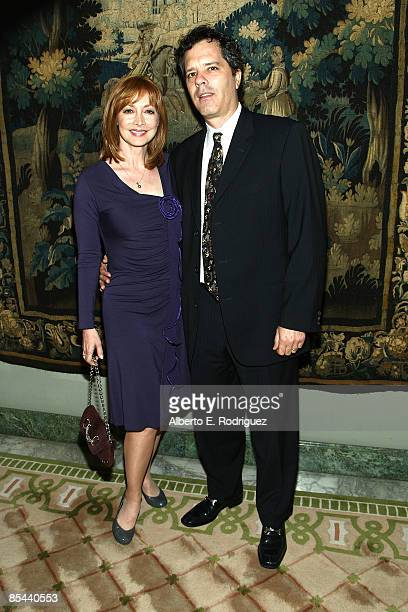 Actress Sharon Lawrence and husband Dr Tom Apostle attend the Idyllwild Arts Foundation's Life in Art Awards Gala honoring composer Marvin Hamlisch...