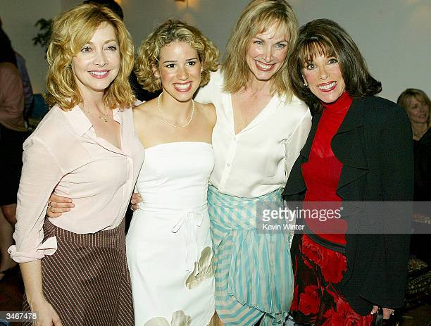 Actress' Sharon Lawrence and Kate Linder pose with cast members Chilina Kennedy and Colleen Fitzpatrick at Joseph's hosted by Venice Magazine after...