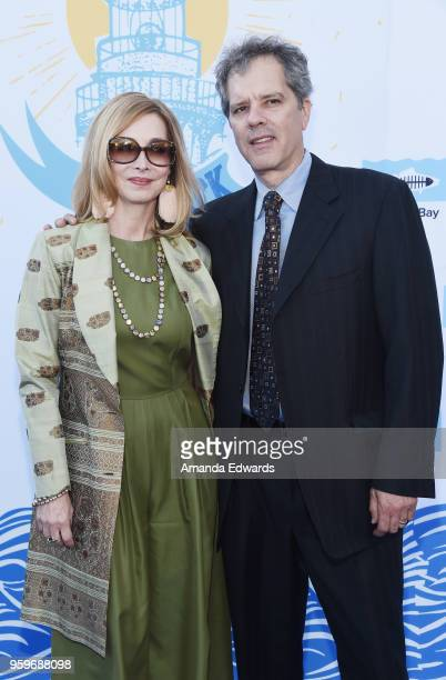 Actress Sharon Lawrence and Tom Apostle arrive at the 2018 Heal The Bay's Bring Back The Beach Awards Gala at The Jonathan Club on May 17 2018 in...