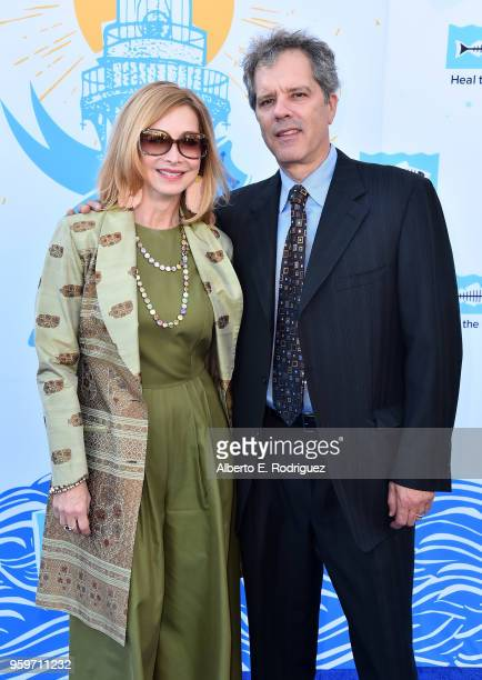 Actress Sharon Lawrence and Tom Apostle attend the 2018 Heal The Bay's Bring Back The Beach Awards Gala at The Jonathan Club on May 17 2018 in Santa...