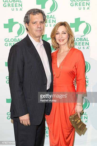 Actress Sharon Lawrence and Tom Apostle attend the Global Green USA 19th Annual Millennium Awards on June 6 2015 in Century City California
