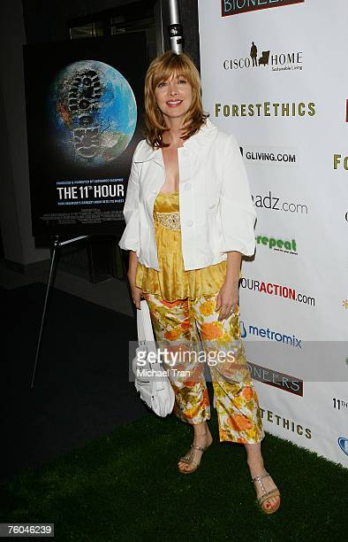 Actress Sharon Lawrence arrives at the 11th Hour Screening at Harmony Gold Theater on August 9 2007 in Hollywood California