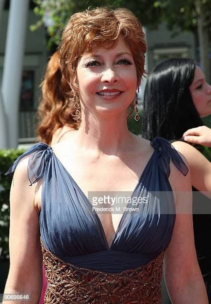Actress Sharon Lawrence attends the 2009 Primetime Arts Emmy Awards at the Nokia Theatre LA Live on September 12 2009 in Los Angeles California