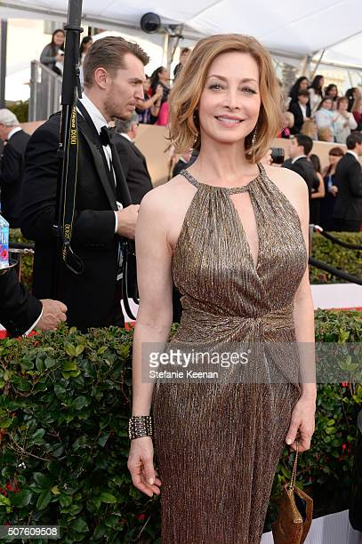 Actress Sharon Lawrence attends The 22nd Annual Screen Actors Guild Awards at The Shrine Auditorium on January 30 2016 in Los Angeles California...