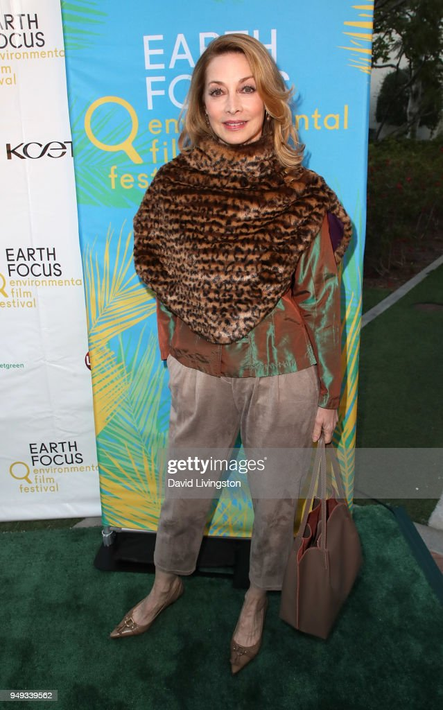 Actress Sharon Lawrence attends the opening night of KCET & Link TV's EARTH FOCUS Environmental Film Festival screening of 'Love & Bananas - An Elephant Story' at Sony Pictures Studios on April 20, 2018 in Culver City, California.