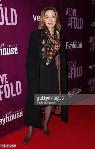 Actress Sharon Lawrence attends the opening night performance of 'Above the Fold' at the Pasadena Playhouse on February 5 2014 in Pasadena California
