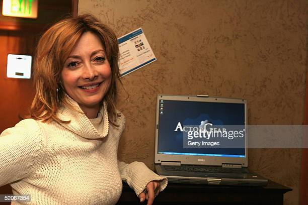 Actress Sharon Lawrence visits the ActorGearcom display at the Gibson Gift Lounge during the 2005 Sundance Film Festival on January 24 2005 in Park...