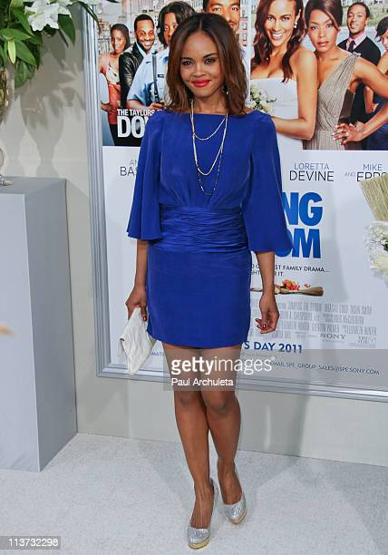 Actress Sharon Leal arrives at the 'Jumping The Broom' Los Angeles premiere at ArcLight Cinemas Cinerama Dome on May 4 2011 in Hollywood California