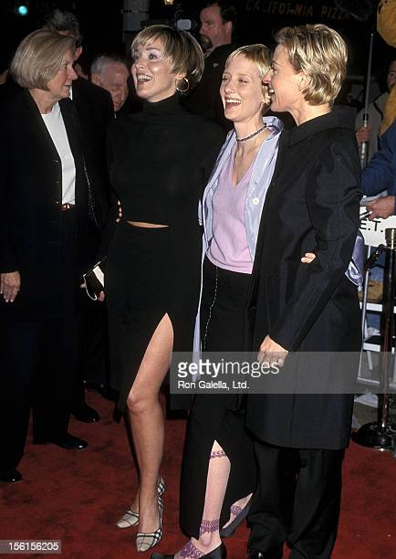 Actress Sharon Stone actress Anne Heche and comedienne/actress Ellen DeGeneres attend the Screening of HBO's Original Movie 'If These Walls Could...