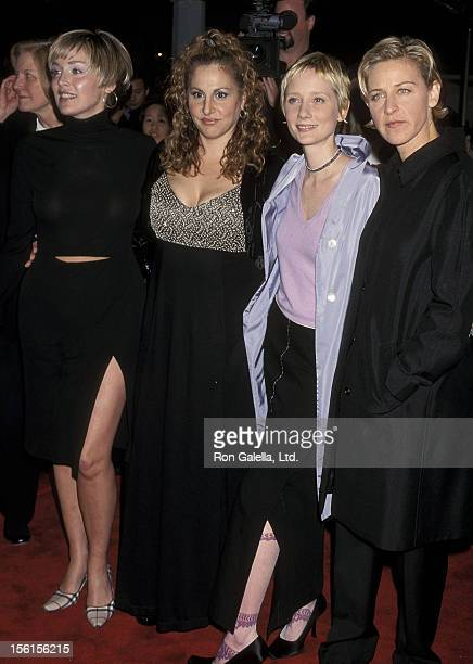 Actress Sharon Stone actress Kathy Najimy actress Anne Heche and comedienne/actress Ellen DeGeneres attend the Screening of HBO's Original Movie 'If...