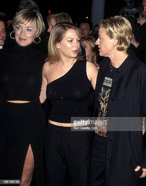 Actress Sharon Stone actress Michelle Williams comedienne/actress Ellen DeGeneres attend the Screening of HBO's Original Movie 'If These Walls Could...