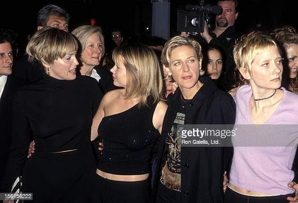 Actress Sharon Stone actress Michelle Williams comedienne/actress Ellen DeGeneres and actress Anne Heche attend the Screening of HBO's Original Movie...