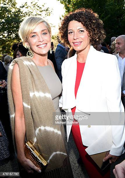 Actress Sharon Stone and Butterfly Ball CoChair Donna Langley attend the 14th annual Chrysalis Butterfly Ball sponsored by Audi Kayne Anderson Lauren...