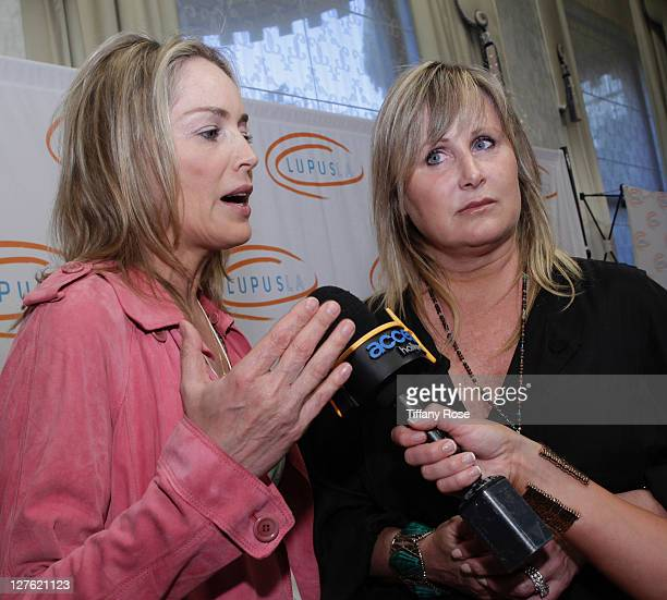 Actress Sharon Stone and Kelly Stone attend the 11th Annual Lupus Los Angeles Orange Bowl at the Beverly Wilshire Four Seasons Hotel on May 12 2011...