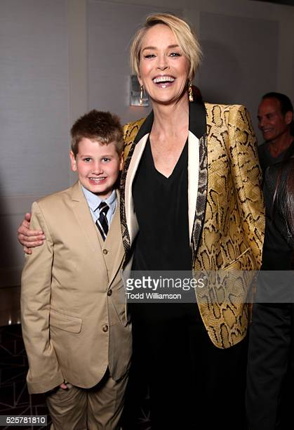 Actress Sharon Stone and Laird Stone attend the Los Angeles Premiere of Screen Media Film's Mothers And Daughters at The London on April 28 2016 in...