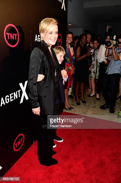 Actress Sharon Stone and Laird Vonne Stone attends TNT's Agent X screening at The London West Hollywood on October 20 2015 in West Hollywood...