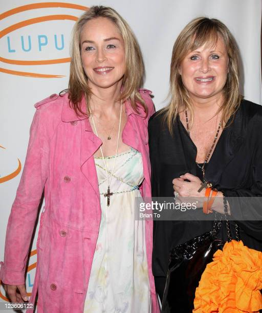 Actress Sharon Stone and sister Kelly Stone attend 11th annual Lupus LA Orange Ball at the Beverly Wilshire Four Seasons Hotel on May 12 2011 in...