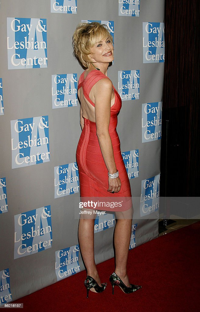 Actress Sharon Stone arrives at An Evening With Women: Celebrating Art, Music, & Equality at The Beverly Hilton Hotel on April 24, 2009 in Beverly Hills, California.