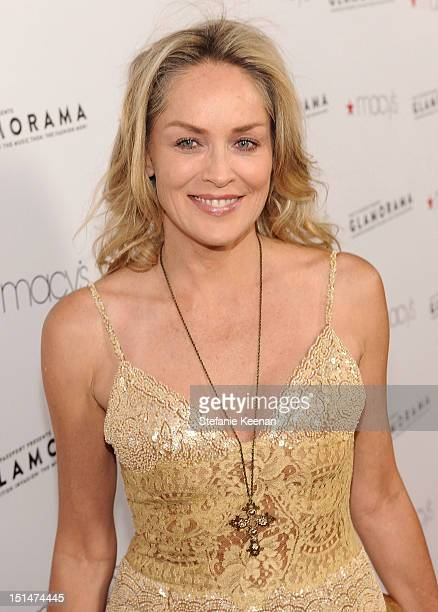 Actress Sharon Stone arrives at Macy's Passport Presents: Glamorama - 30th Anniversary in Los Angeles held at The Orpheum Theatre on September 7,...