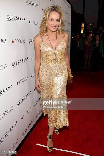 Actress Sharon Stone arrives at Macy's Passport Presents Glamorama 30th Anniversary in Los Angeles held at The Orpheum Theatre on September 7 2012 in...