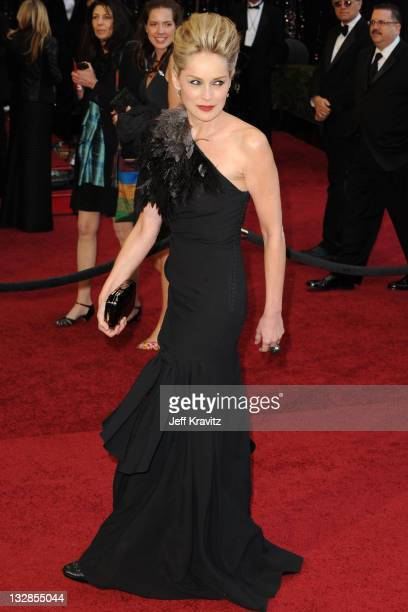 Actress Sharon Stone arrives at the 83rd Annual Academy Awards held at the Kodak Theatre on February 27 2011 in Los Angeles California