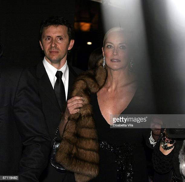 """Actress Sharon Stone arrives at the Italian premiere of """"Basic Instinct II: Risk Addiction"""" at the Warner Village Moderno Cinema on March 17, 2006 in..."""