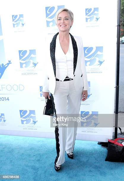 Actress Sharon Stone arrives for Project Angel Food Celebrates 25 Years With 2014 Angel Awards at Project Angel Food on September 6 2014 in Los...