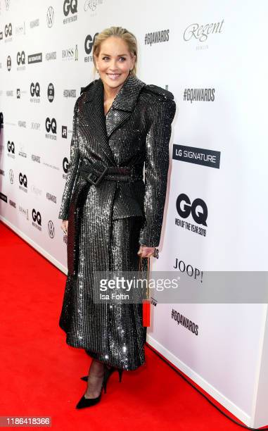 Actress Sharon Stone arrives for the 21st GQ Men of the Year Award at Komische Oper on November 7, 2019 in Berlin, Germany.