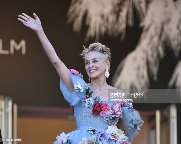 """Actress Sharon Stone arrives for the screening of the film """"A Felesegem Tortenete"""" in competition at the 74th annual Cannes Film Festival in Cannes,..."""