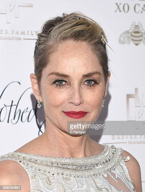 Actress Sharon Stone arrives to the 5th Annual Hotbed Gala Presented By The Drever Family Foundation at the Drever Family Estate on June 4 2016 in...