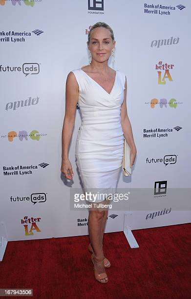 Actress Sharon Stone attends A Better LA's An Evening With A View Annual Gala at ATT Center on May 2 2013 in Los Angeles California