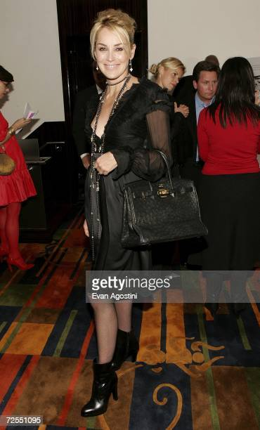 Actress Sharon Stone attends a special screening after party for the film 'Bobby' hosted by The Weinstein Company at Le Cirque November 14 2006 in...