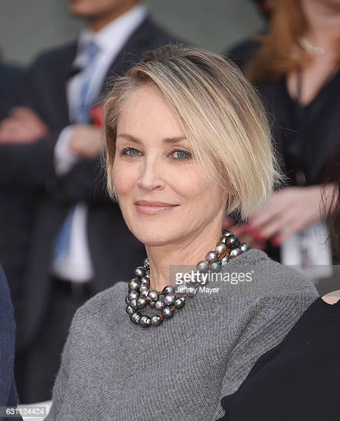 Actress Sharon Stone attends actor Jeff Bridges' hand and footprint ceremony at the TCL Chinese Theatre IMAX on January 6 2017 in Hollywood California