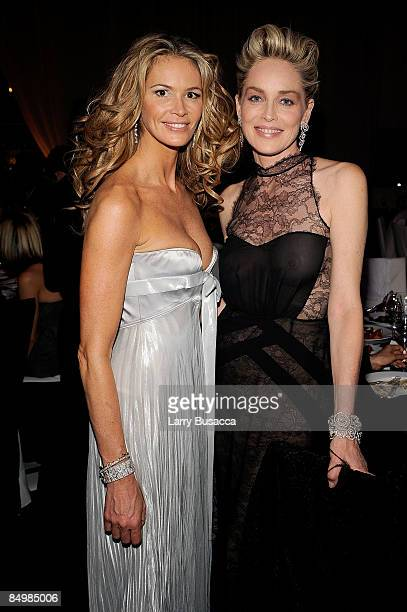 Actress Sharon Stone attends the 17th Annual Elton John AIDS Foundation Oscar party held at the Pacific Design Center on February 22 2009 in West...