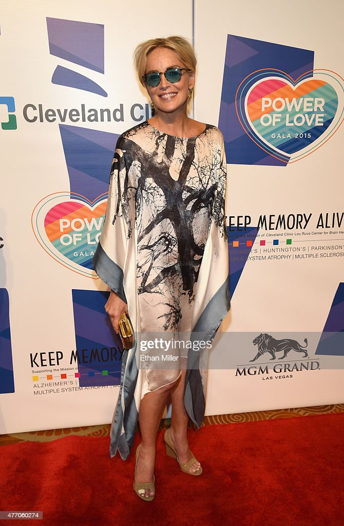 Actress Sharon Stone attends the 19th annual Keep Memory Alive 'Power of Love Gala' benefit for the Cleveland Clinic Lou Ruvo Center for Brain Health honoring Andrea Bocelli and Veronica Bocelli at MGM Grand Garden Arena on June 13, 2015 in Las Vegas, Nevada.