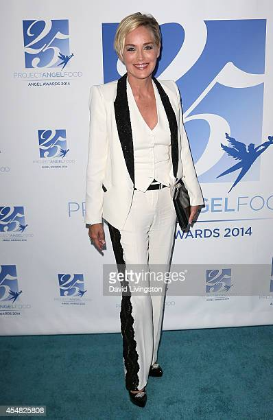 Actress Sharon Stone attends the 2014 Angel Awards at Project Angel Food on September 6 2014 in Los Angeles California