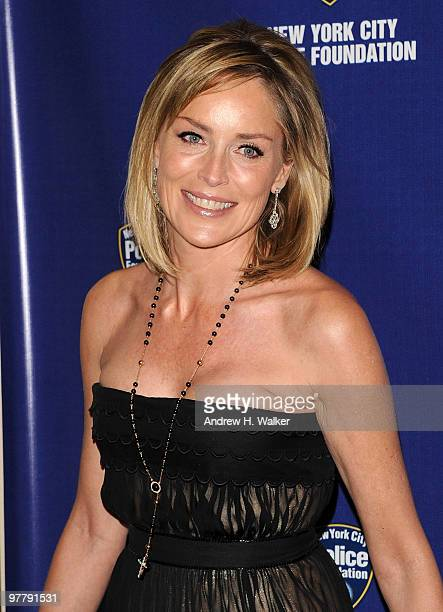 Actress Sharon Stone attends the 32nd Annual New York City Police Foundation Gala at The Waldorf=Astoria on March 16 2010 in New York City