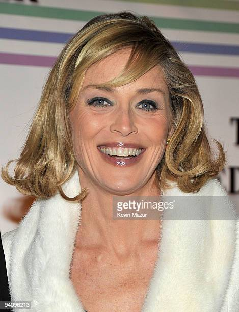Actress Sharon Stone attends the 32nd Kennedy Center Honors at Kennedy Center Hall of States on December 6 2009 in Washington DC