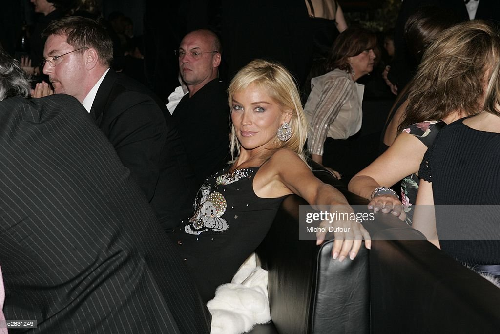 Actress Sharon Stone attends the Ceremony of the Chopard Trophy Awards at the Carlton Hotel on May 11, 2005 in Cannes, France. The Chopard Trophy is a promotional award that is given to young actors.