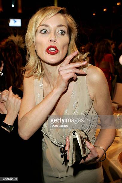Actress Sharon Stone attends the Cinema for Peace Charity Gala on February 12 2007 in Berlin Germany The gala is traditionally held during the Berlin...