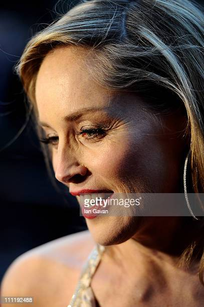 Actress Sharon Stone attends the Gorby 80 Gala at the Royal Albert Hall on March 30 2011 in London England The concert is to celebrate the 80th...