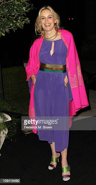 Actress Sharon Stone attends The Hollywood Reporter's Big 10 Party at the Getty House on February 24 2011 in Los Angeles California