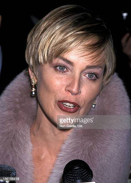 Actress Sharon Stone attends the Human Rights Campaign Dinner to Honor Sharon Stone NBC and 'Non on Knight' Proposition 22 on February 19 2000 at...