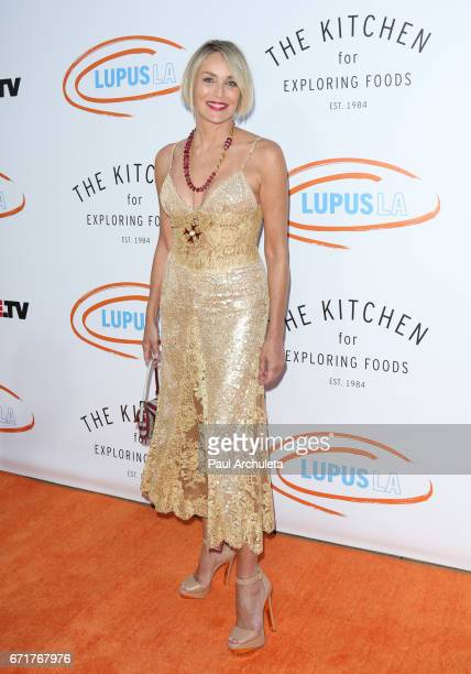 Actress Sharon Stone attends the Lupus LA's 2017 Orange Ball Rocket To A Cure at The California Science Center on April 22 2017 in Los Angeles...