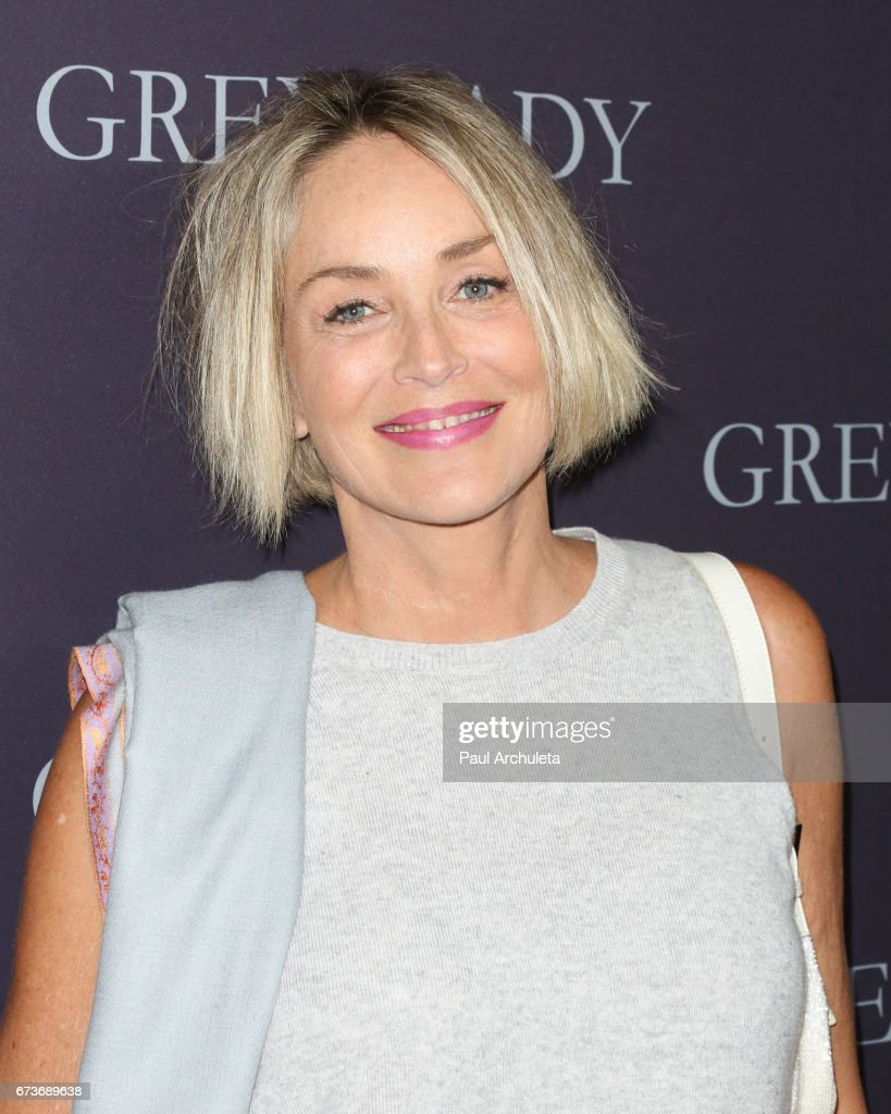 Actress Sharon Stone attends the premiere of 'Grey Lady' at The Landmark Theater on April 26, 2017 in Los Angeles, California.