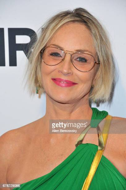 Actress Sharon Stone attends the premiere of Penny Black Promotions' 'A Little Something For Your Birthday' at Pacific Design Center on May 3 2017 in...