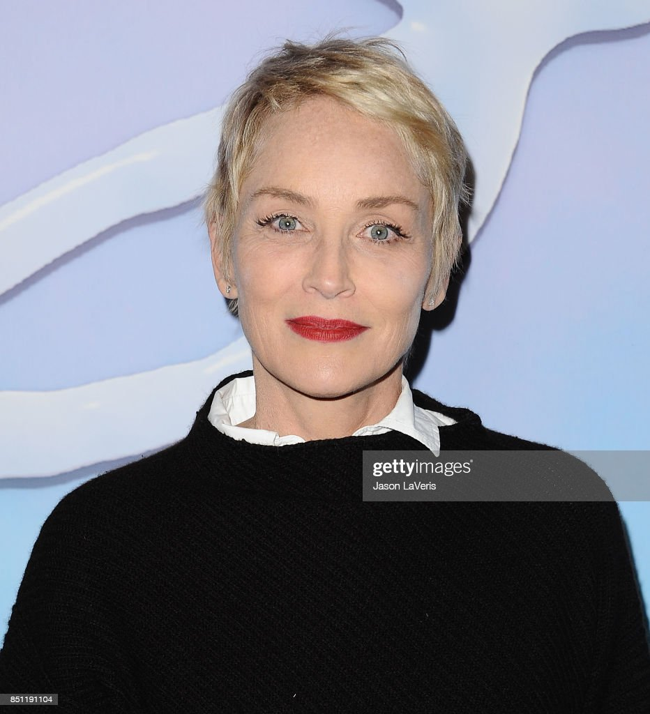 Actress Sharon Stone attends the premiere of 'SPF-18' at University High School on September 21, 2017 in Los Angeles, California.