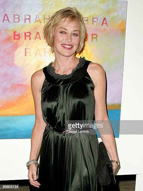Actress Sharon Stone attends the Zimmer Children's Museum 8th annual Discovery Awards dinner at The Beverly Hills Hotel on November 6 2008 in Beverly...